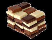 photo de piles de carrés de chocolat