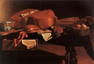 nature morte avec instruments baroques