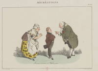 """Illustration d'Henri Monnier """"Monsieur termine sa philosophie"""