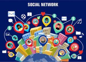 dessin schématisant les réseaux sociaux
