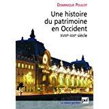 couverture du livre Une hiqstoire du patrimoine en Occident