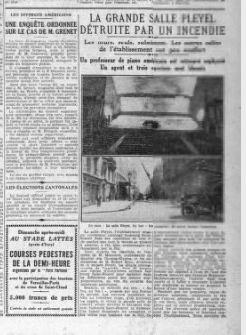 article à la une du Petit parisien