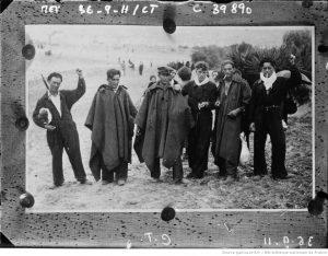 photo de La guerre civile espagnole, miliciens espagnols réfugiés à Hendaye