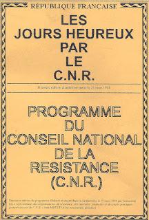 Affiche des Jours heureux par le CNR