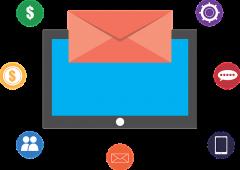 image vectorielle écran bulletin de vote et icônes de réseaux sociaux
