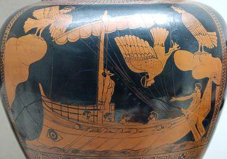 vase représentant Ulysse et les sirènes