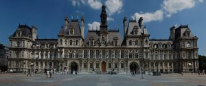 Vue générale de l'Hotel de ville de Paris