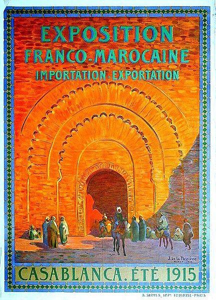 Affiche de l'exposition Franco-Marocaine de 1915 à Casablanca