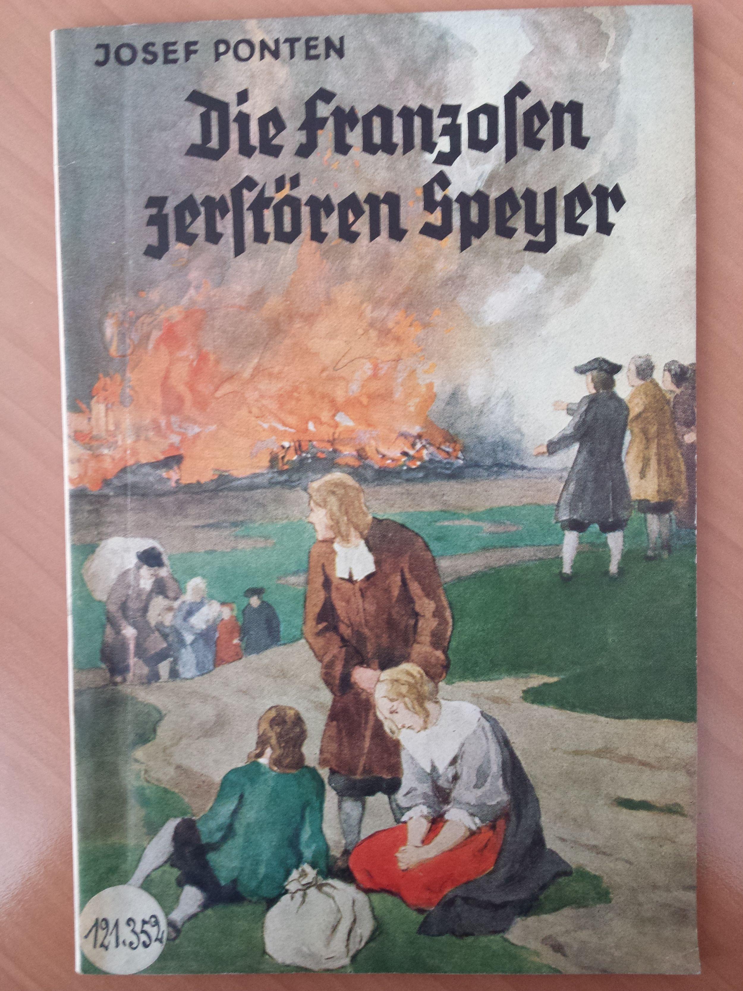 couverture du livre allemand sur la destruction par les français de Spire
