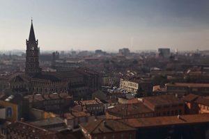 Photographie des toits roses de Toulouse