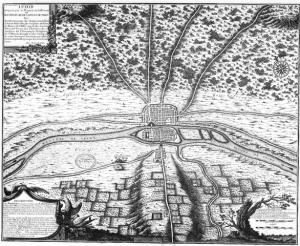 Plan de Paris en 508 par Nicolas de La Mare