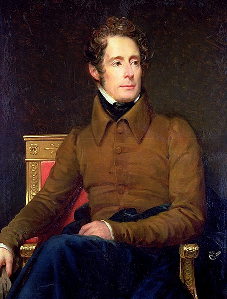 portrait de Lamartine par François Gérard, 1831