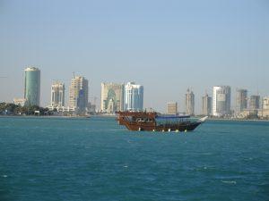 Doha, la capitale vue de la mer