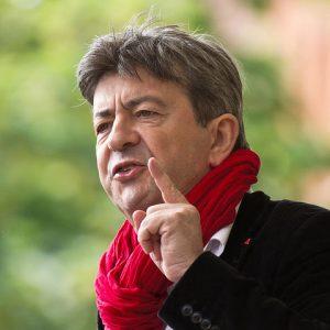 portrait de Melenchon en 2013 à Toulouse