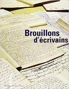 Affiche de l'exposition de la Bnf Brouillons d'écrivains