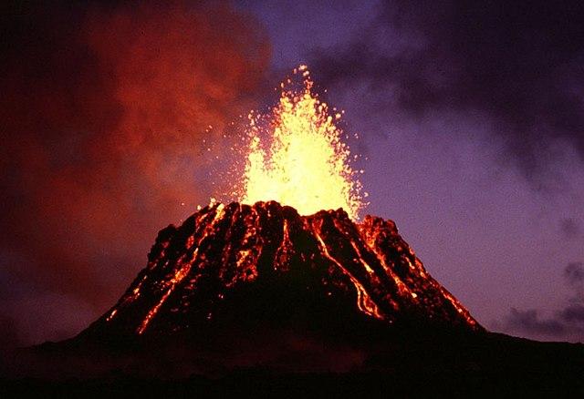éruption du Kilauea, Hawaii.