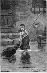 Cosette, illustration pour Les Misérables par Émile Bayard, 1886