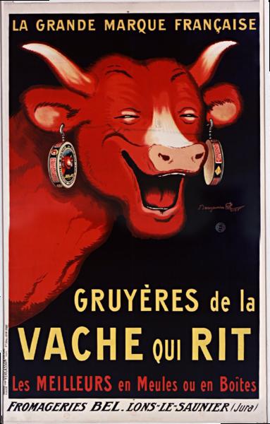 Affiche de Rabier La vache qui rit 1926