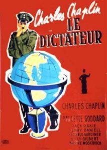 Affiche du film Le Dictateur de Chaplin