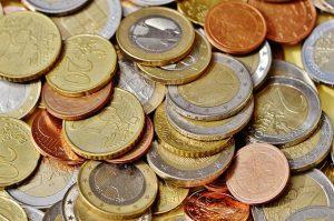 Photographie de pièces de monnaie en vrac