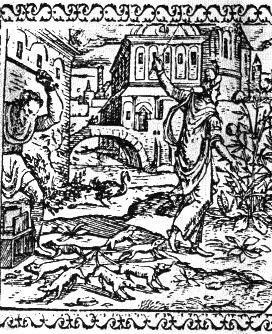vignette représentant un roi des rats (1576)