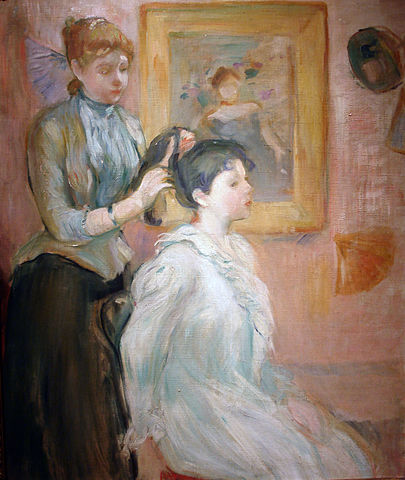 Tableau de Berthe Morisot La coiffure