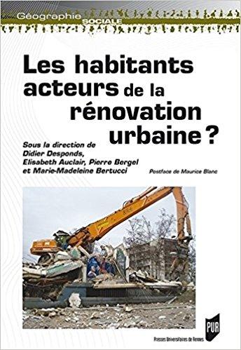 couverture de l'ouvrage Les habitants acteurs de la rénovation urbaine (éditions Presses universitaires de Rennes
