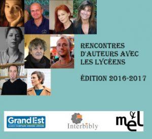 affiche d'une rencontre d'auteurs avec des lycéens Interbibly