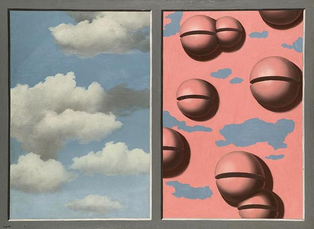 Grelots roses, ciels en lambeaux, Magritte, 1930