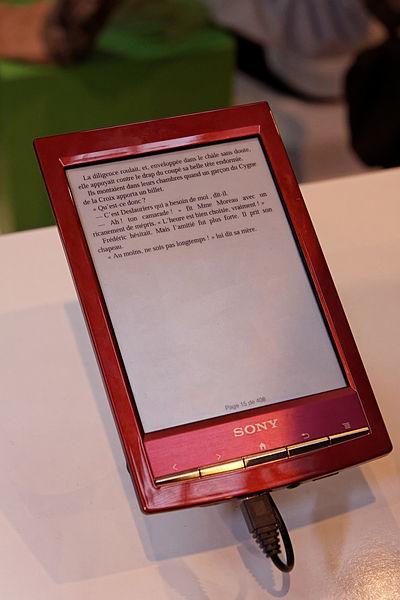 photo d'une liseuse rouge