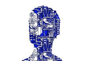 dessin d'une tête remplie de circuits électroniques