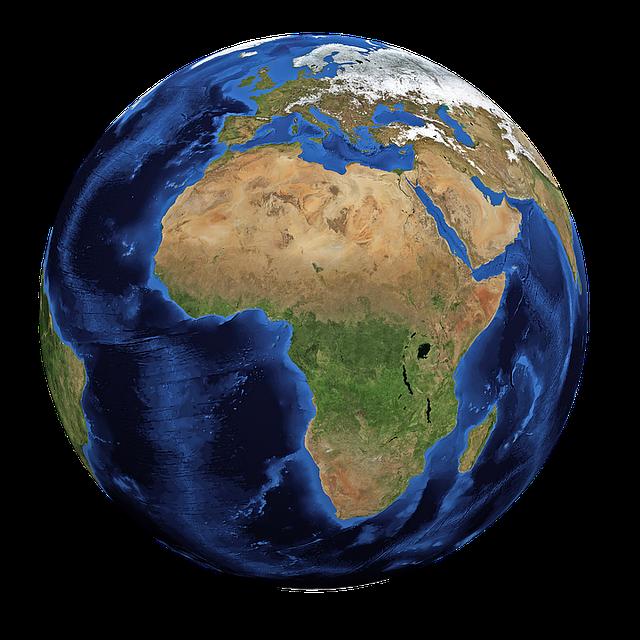 Image de la terre vue du ciel