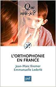 couverture du livre L'orthophonie en France