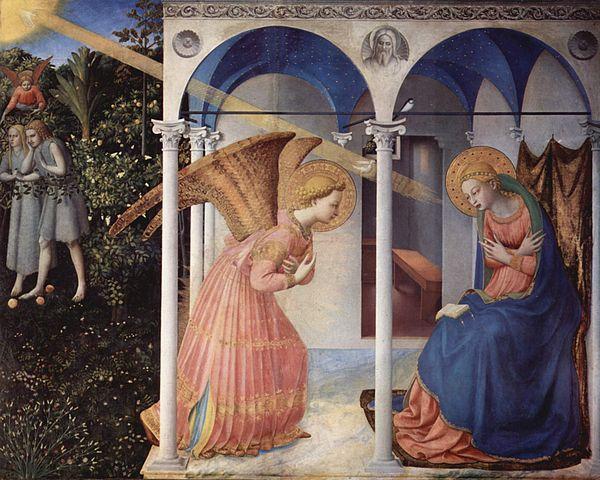 Fra Angelico, l'Annonciation, circa 1430
