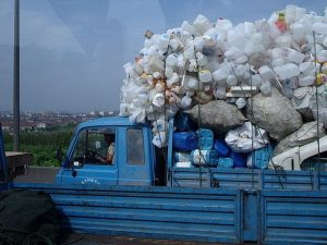Camion de recyclage chinois