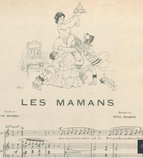 Partition dela chanson Les Mamans Théodore Botrel