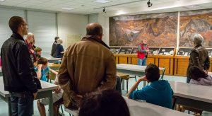 présentation de groupe au musée de géologie de Rennes