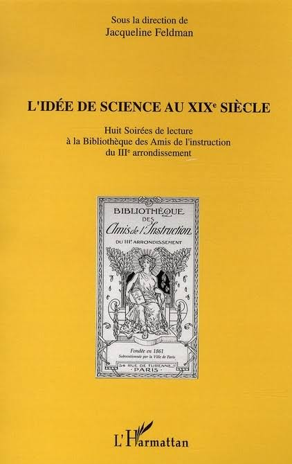 couverture du livre L'idée de science au XIXe siècle