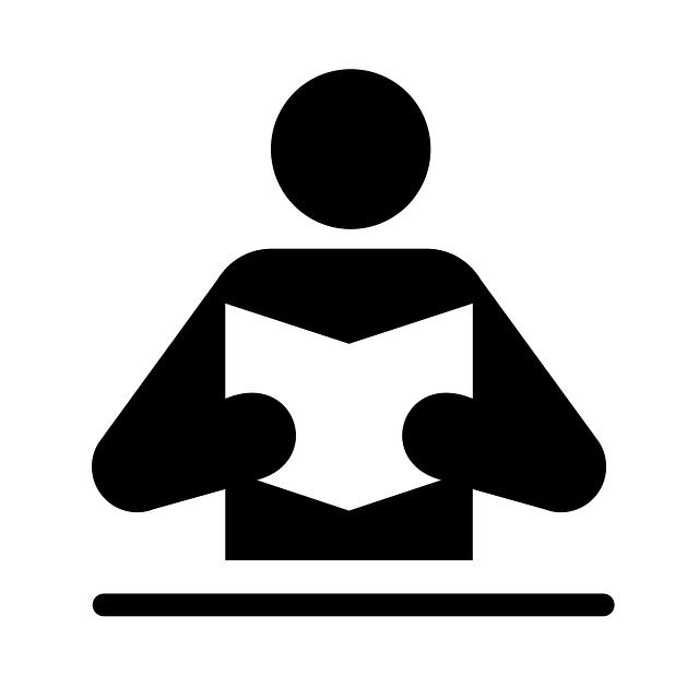 Pictogramme représentant une personne lisant