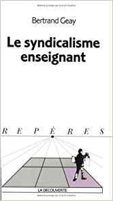 couverture du livre Le syndicalisme enseignant