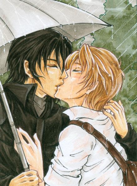 Exemple de Fanart de style shōnen ai édité dans la communauté Animexx.