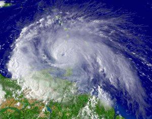 photographie satellite d'un ouragan
