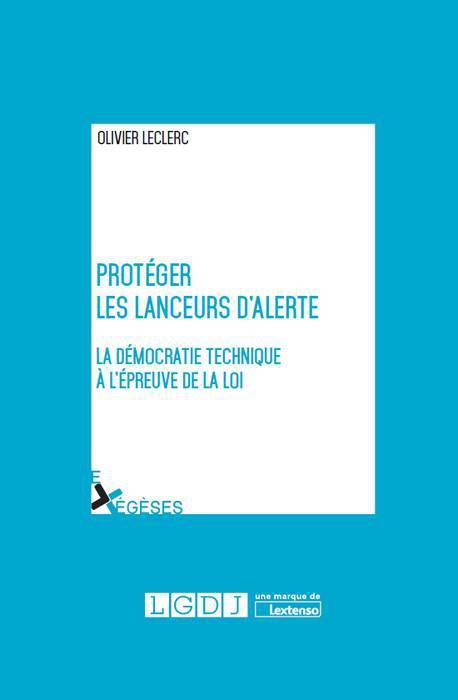 couverture du livre Protéger les lanceurs d'alerte