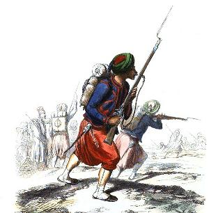 Régiments envoyés en Afrique de 1830 à 1843 - Zouaves