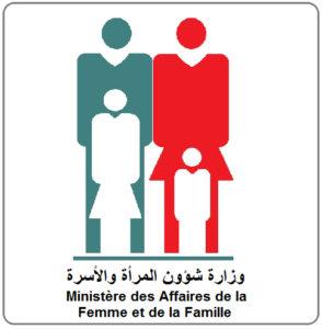 Logo d'un homme et une femme avec deux enfants