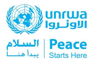 ogo de l'Office de secours et de travaux des Nations Unies pour les réfugiés de Palestine dans le Proche-Orient