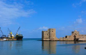 Le château de Sidon au Liban