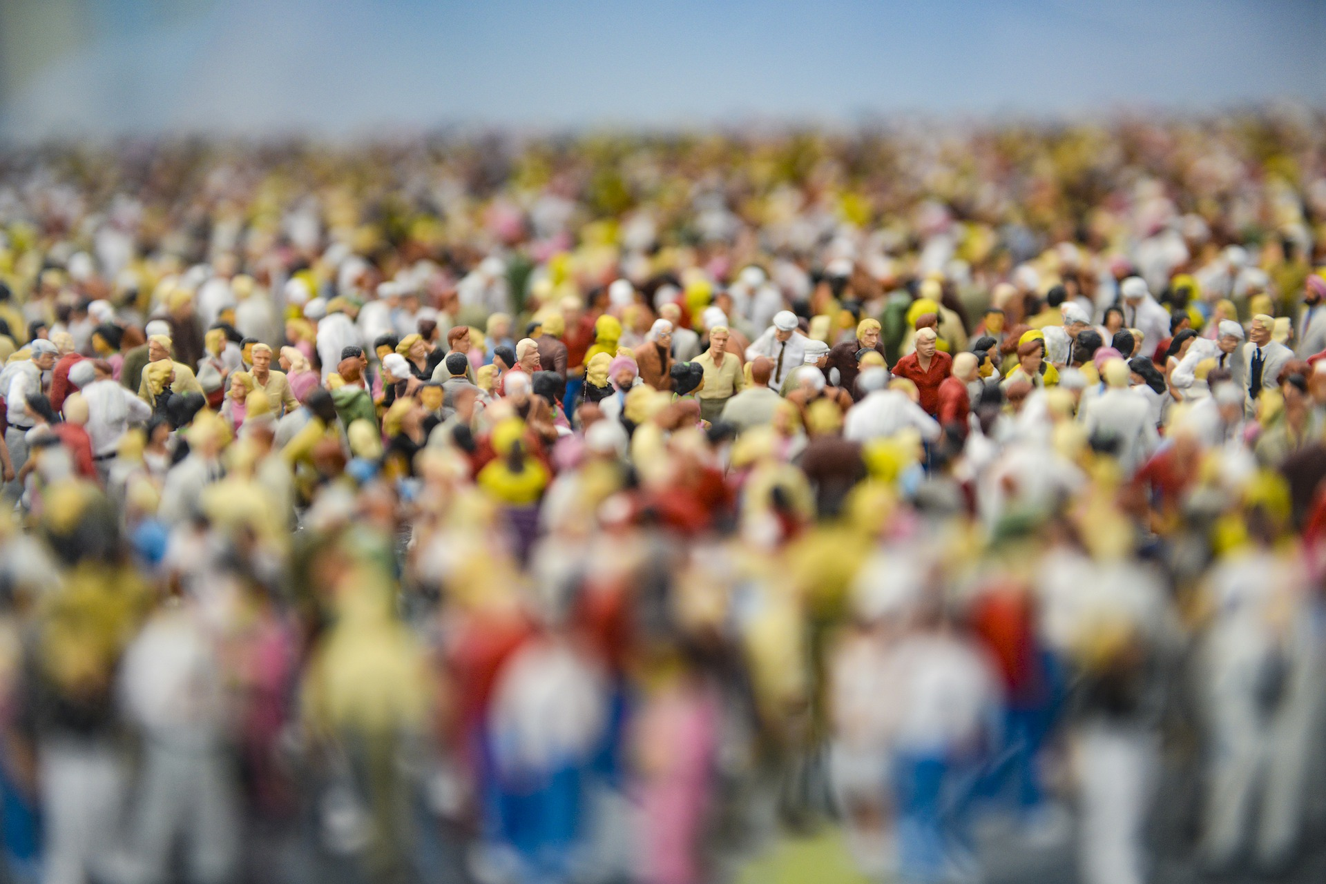 Foule : figurines