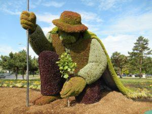La mosaïculture L'Homme qui plantait des arbres