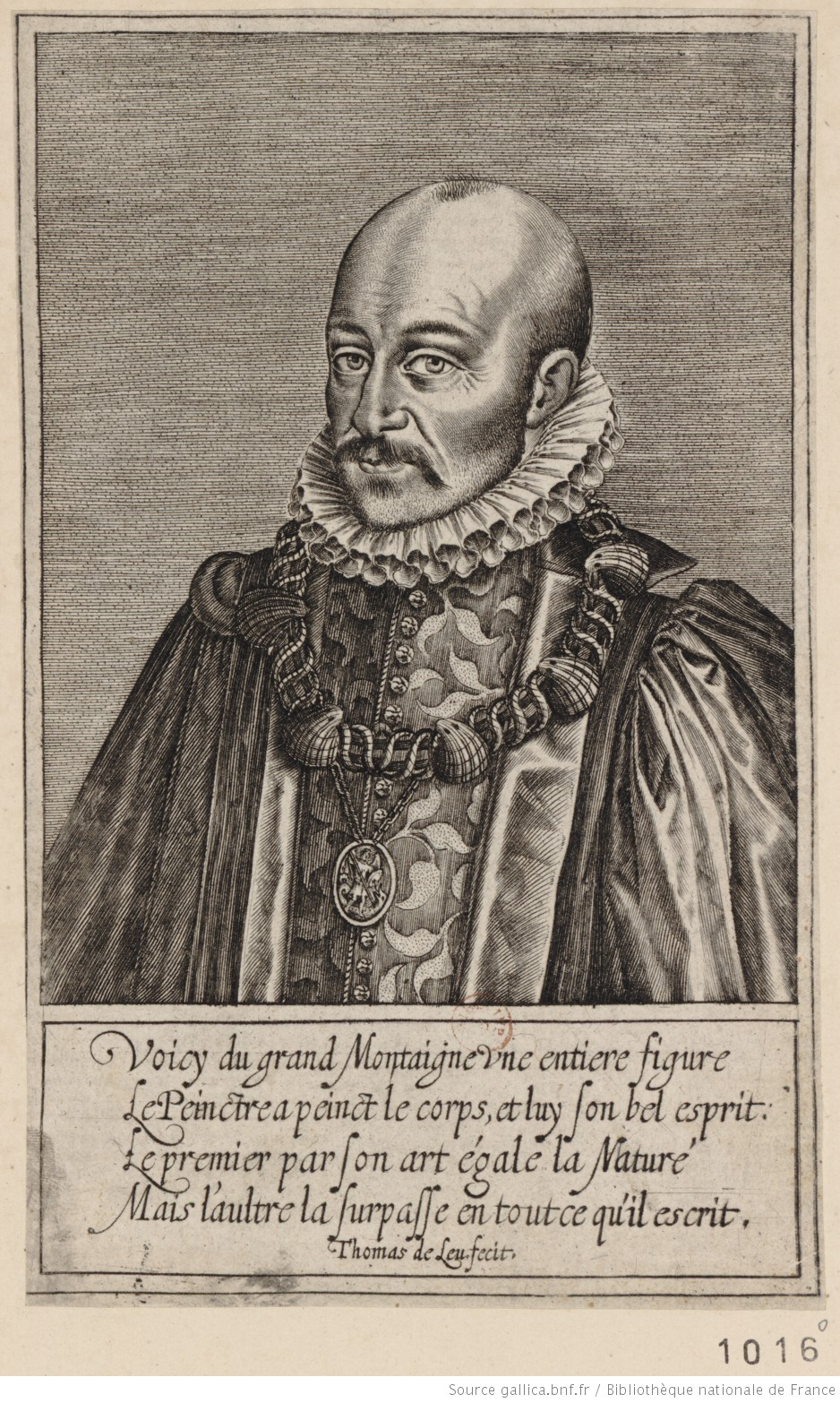 Portrait de Michel de Montaigne [estampe]